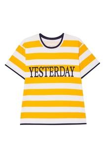 Хлопковая футболка в полоску Alberta Ferretti