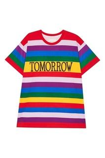 Футболка в разноцветную полоску Tomorrow Alberta Ferretti