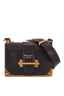 Кожаная сумка Cahier Prada