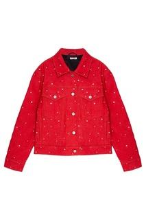 Красная куртка с кристаллами Miu Miu