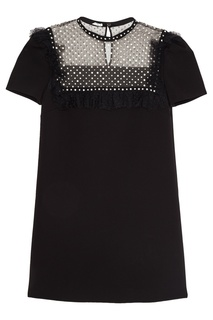 Платье-мини с кристаллами Miu Miu