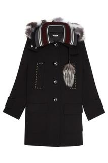 Шерстяное пальто с карманами Miu Miu