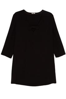 Мини-платье с V-вырезом Miu Miu
