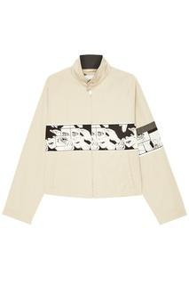 Хлопковая куртка с отделкой Prada