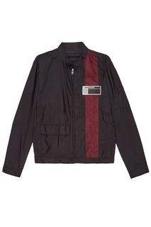 Черная куртка с отделкой Prada