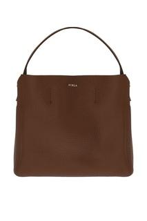 Коричневая сумка-шопер Capriccio Furla