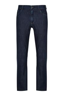 Прямые синие джинсы Canali
