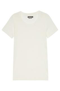Белая льняная футболка Isabel Marant