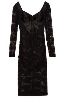 Кружевное платье с корсетной вставкой Dolce & Gabbana