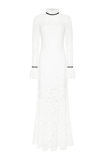 Белое шелковое платье с драпировкой A LA Russe