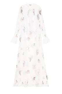 Платье из белого шифона с принтом A LA Russe