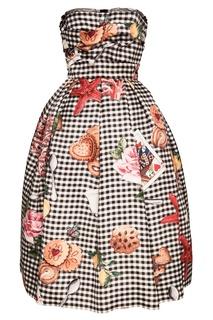 Пышное платье из шелка Dolce & Gabbana