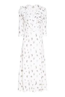 Белое платье с принтом A LA Russe