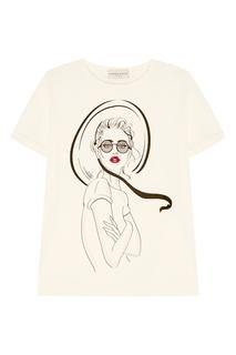 Хлопковая футболка с принтом Laroom