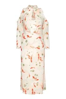 Платье с вырезами на плечах Laroom