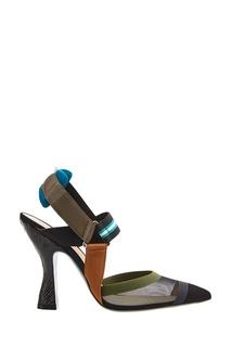 Комбинированные туфли с сеткой Fendi