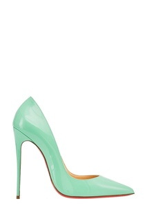 Зеленые лакированные туфли So Kate 120 Christian Louboutin