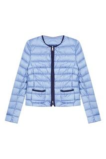 Голубая стеганая куртка Moncler