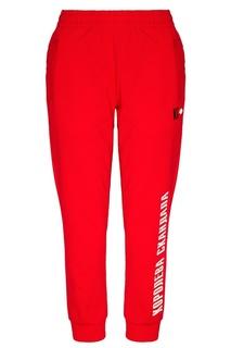 Красные брюки с надписью Terekhov Girl