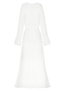 Белое комбинированное платье-макси A LA Russe