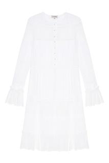 Белое комбинированное платье A LA Russe