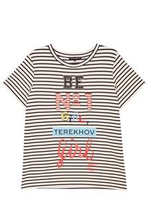 Тельняшка с разноцветными надписями Terekhov Girl