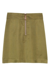 Короткая юбка цвета хаки Sandro