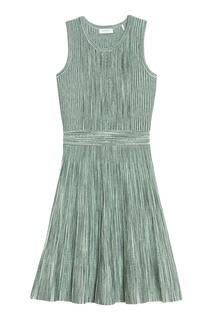 Короткое зеленое платье Sandro