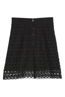 Черная кружевная юбка Sandro