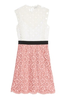 Комбинированное кружевное платье Sandro