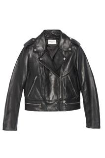 Байкерская куртка с погонами Sandro