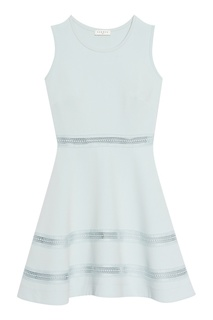 Голубое платье с ажурной отделкой Sandro