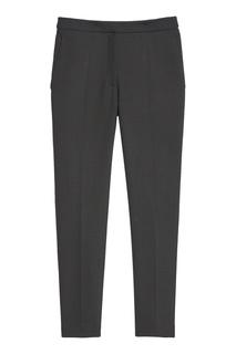 Укороченные черные брюки Sandro