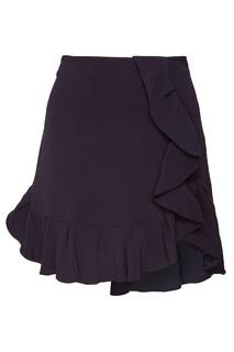 Короткая юбка с оборкой Sandro