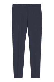 Темно-синие укороченные брюки Sandro