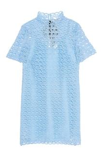 Голубое кружевное платье Sandro