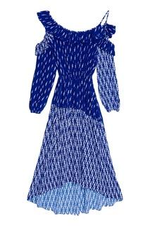 Асимметричное платье с принтом Sandro