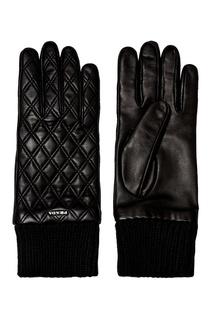 Стеганые перчатки из кожи Prada