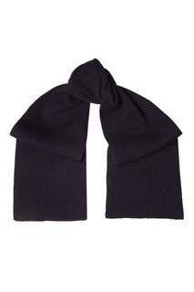 Синий шарф из кашемира Prada
