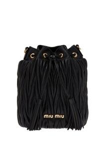 Драпированная сумка-торба Bucket Bag Miu Miu
