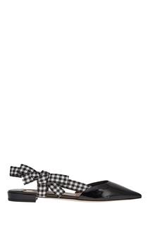 Черные лакированные туфли с бантами Miu Miu