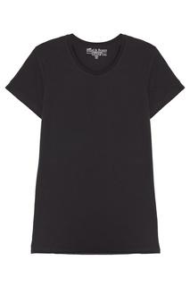 Черная футболка с круглым вырезом Bread&Boxers