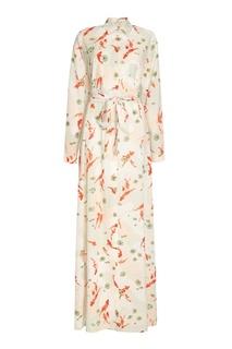 Длинное платье-рубашка с поясом Laroom