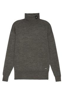 Удлиненный свитер серого цвета Zasport