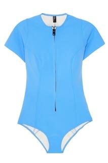 Голубой купальник с молнией Lisa Marie Fernandez