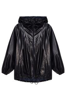 Синяя кожаная куртка Prada