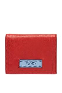 Красный складной кошелек Prada