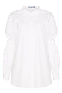 Белая хлопковая рубашка Prada