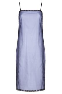 Двойное платье-комбинация из шелка Prada
