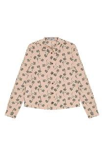 Шелковая рубашка с принтом Prada